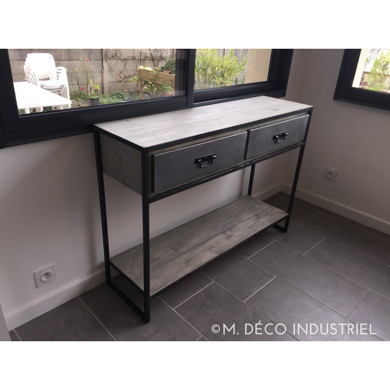 Meuble industriel console m d co industriel - Console but meuble ...