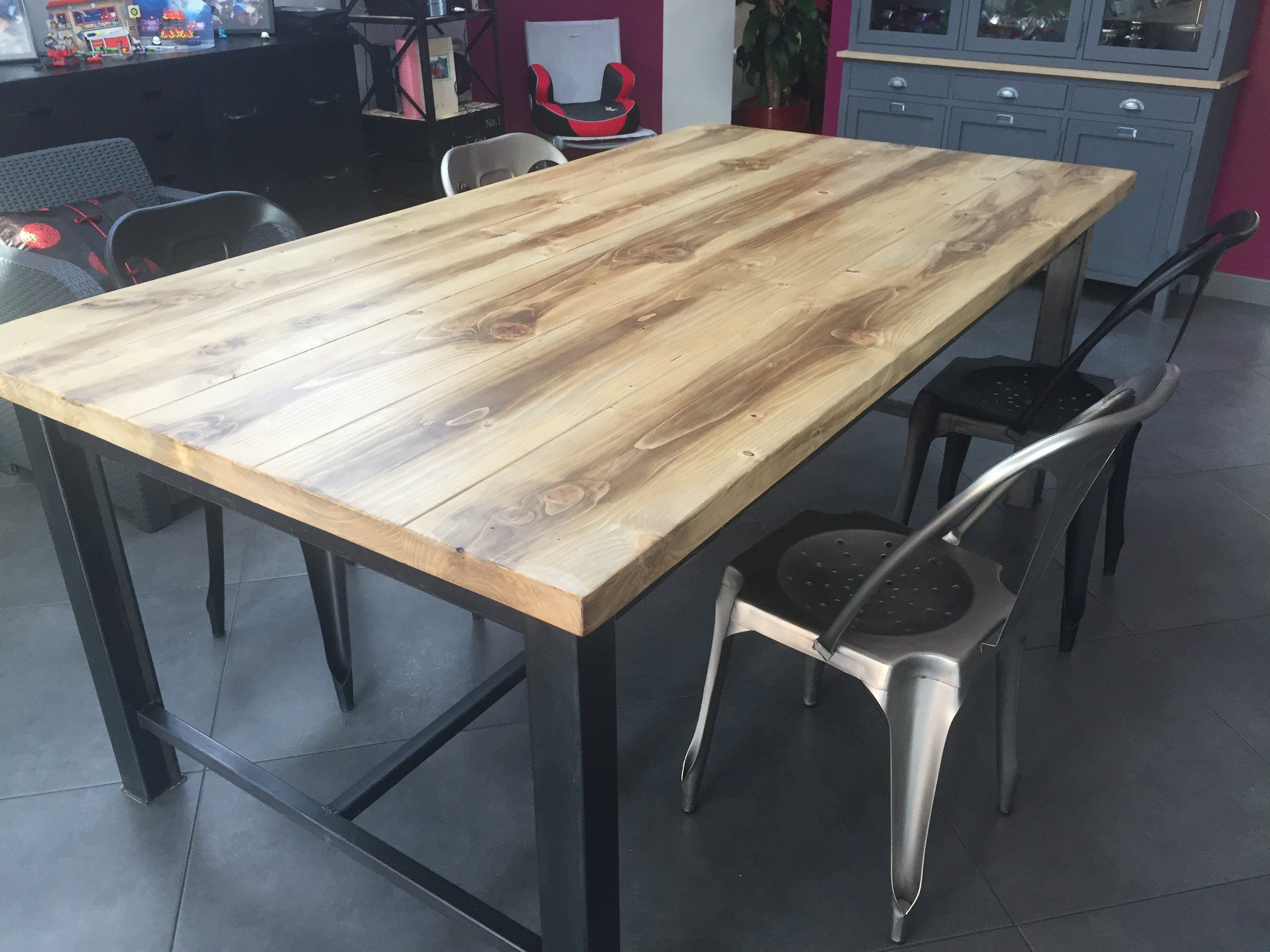 Table basse industrielle fabriquer - Faire une table industrielle ...