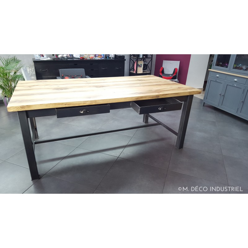 Table salle a manger artisanale pied de table bar with for Petite table de salle a manger