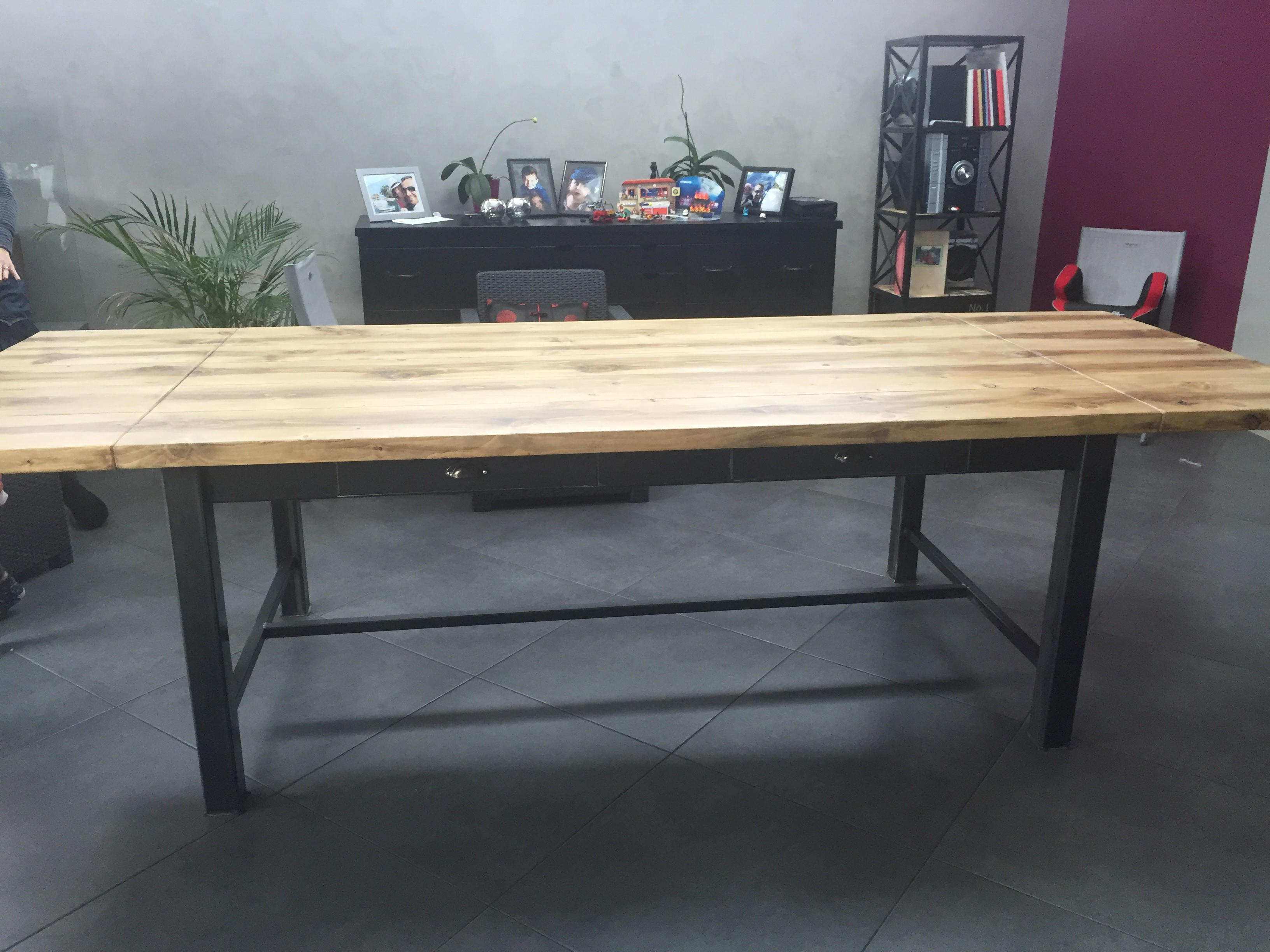 Simple Table Bois Industriel