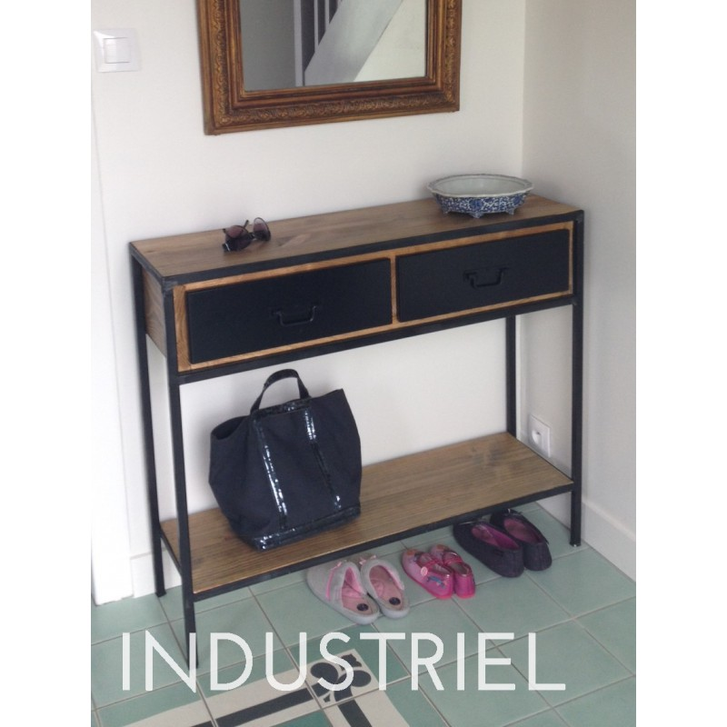 meuble industriel console m d co industriel