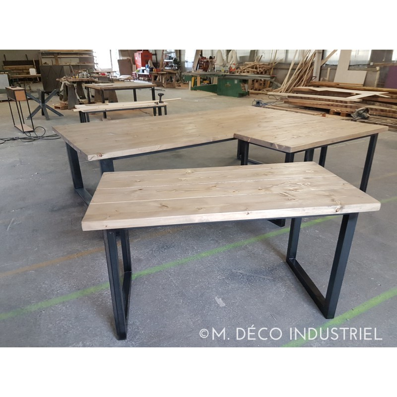 Table de salle a manger style industriel maison design for Table salle a manger loft