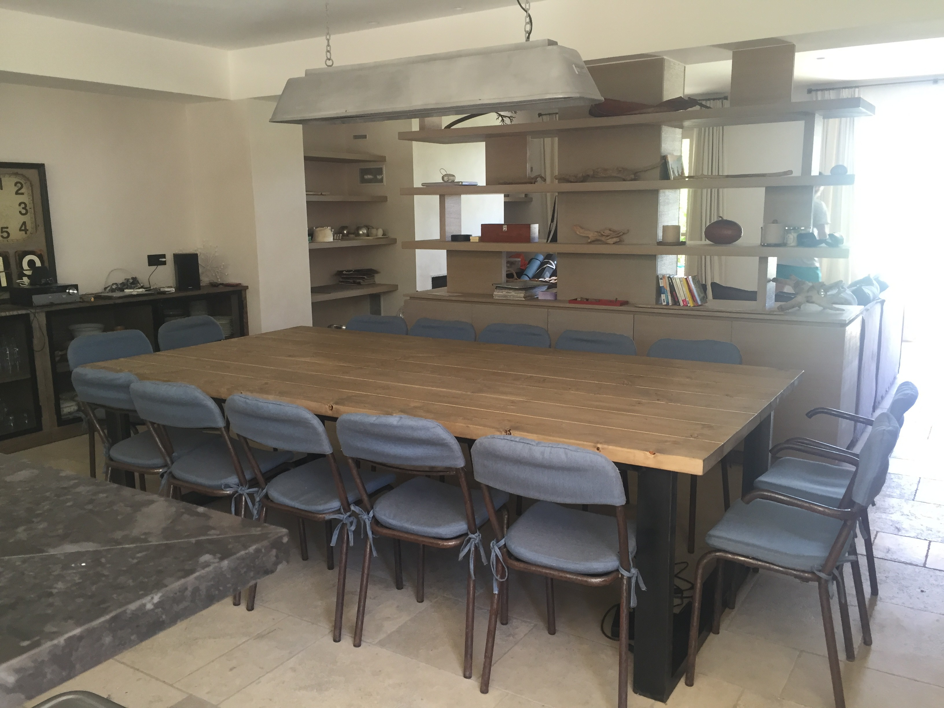 Table esprit industriel - Table salle a manger industrielle ...