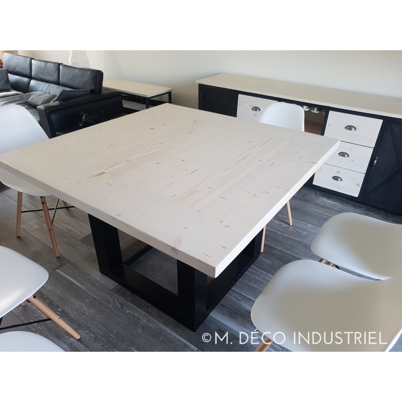 Table de salle a manger style industriel for Table salle manger granit