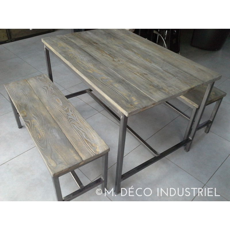 Table de salle a manger industriel id es de d coration for Table originale salle manger