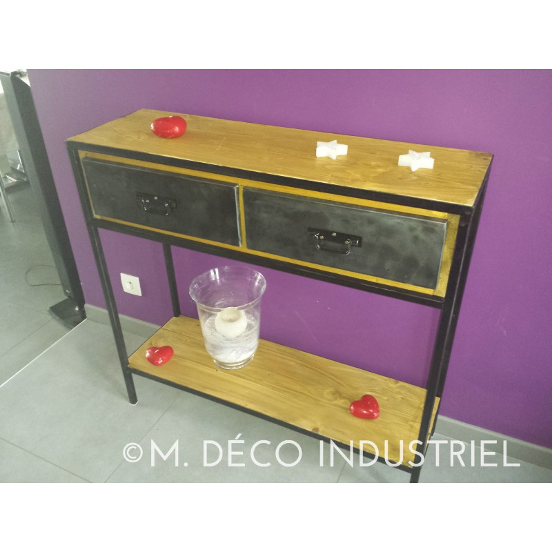 console style industriel m d co industriel. Black Bedroom Furniture Sets. Home Design Ideas