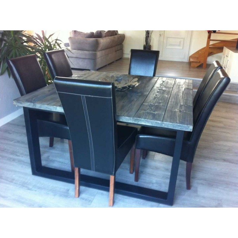 Table de salle a manger style industriel for Table a manger industrielle pas cher