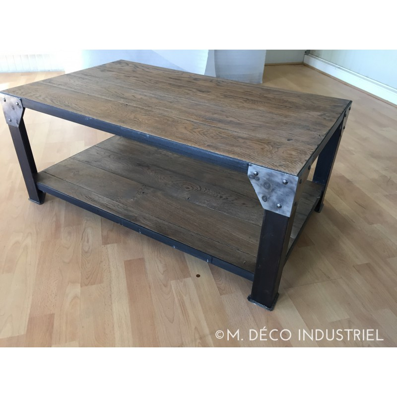 Meuble industriel table basse m d co industriel - Table basse fait maison ...