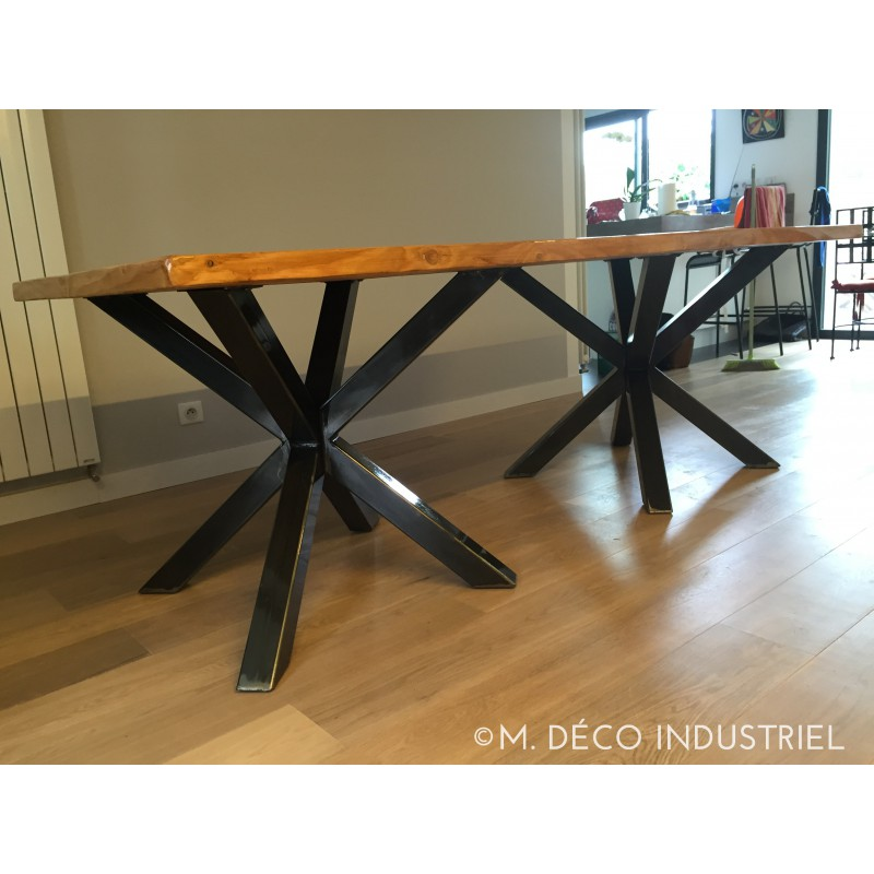 Table salle a manger style industriel maison design for Table de salle a manger sur mesure