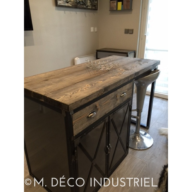 meuble industriel lot centrale de cuisine m d co