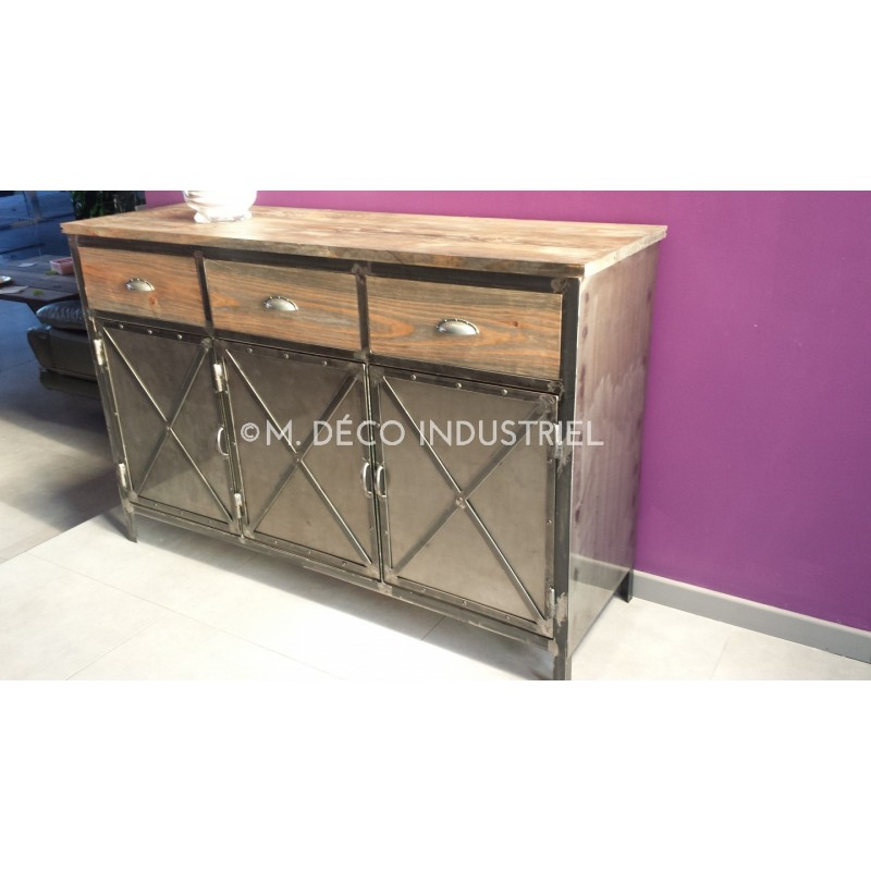 Buffet industriel 3 portes