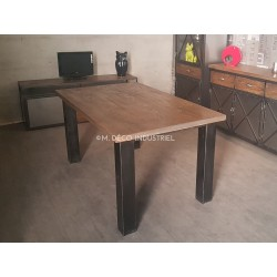 Tables Metal Et Bois Style Industriel Made In France M Deco