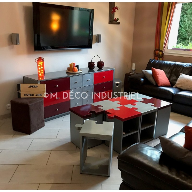 Meuble bas tv industriel design