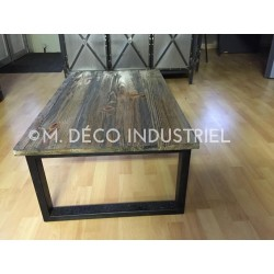 Meuble industriel table basse