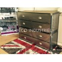 Meuble industriel commode clapet